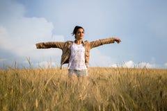 Girl in nature Stock Photo