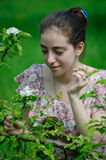 Girl and nature Stock Images