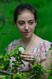 Girl and nature Royalty Free Stock Photography