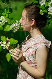 Girl and nature Royalty Free Stock Photos