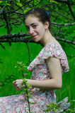 Girl and nature Stock Photography