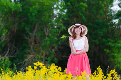 The girl on the nature Royalty Free Stock Photos