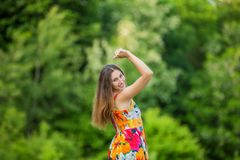 Girl on the nature Royalty Free Stock Photos