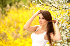 Girl on the nature Stock Image