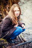 Girl in nature Royalty Free Stock Photography