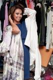 Girl near the closet. Pretty Girl near the closet royalty free stock photos