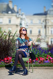 Girl near Palace Stock Image