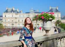 Girl near Palace Royalty Free Stock Photography