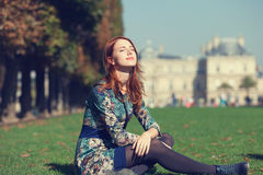 Girl near Palace Stock Photography