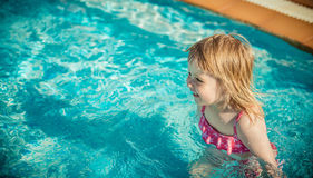Girl near the pool Stock Photo