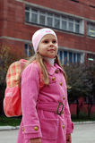 Girl near school Stock Image