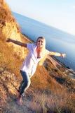 Girl near the sea Stock Photo