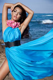 Girl near the sea royalty free stock photos