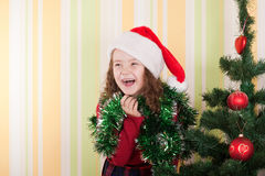 Girl near tree Royalty Free Stock Image