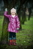 Girl near tree Royalty Free Stock Image