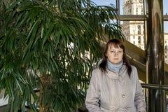 Girl near the tree royalty free stock photos