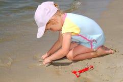 Girl near water Royalty Free Stock Photo