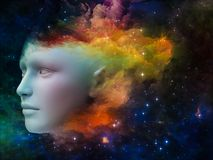 Girl Nebula Stock Photography