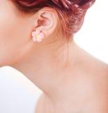 Girl neck close-up Stock Photo