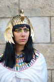 Girl Nefertiti. Girl in the image of Pharaoh Nefertiti Royalty Free Stock Image