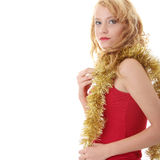 Girl with New Year's decor. Stock Photo
