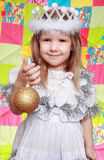 The girl in a New Year's dress Stock Image
