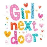 Girl next door. Decorative type lettering design Royalty Free Stock Photos
