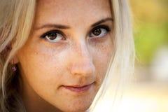 Girl with nice eyes Stock Image