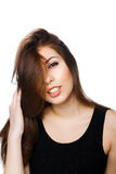 Girl with nice hair Stock Photography