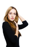 Girl with nice hair Royalty Free Stock Photos