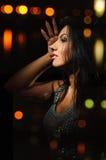 Girl in the night Stock Image
