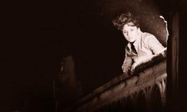 Girl at night Royalty Free Stock Photo