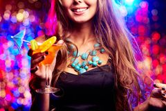 Girl in night club Stock Photo