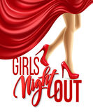 Girl Night Out Party Design. Vector illustration Stock Photo