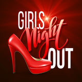 Girl Night Out Party Design. Vector illustration Stock Photography