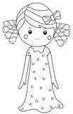 Girl in nightgown Stock Image