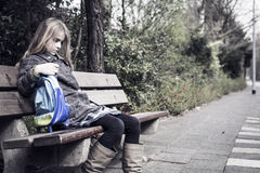 Girl with no friends Royalty Free Stock Images