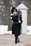Girl - Norwegian Royal Guard in Oslo Stock Images