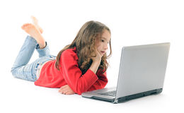 Girl with notebook Royalty Free Stock Photography