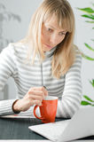 Girl with notebook Royalty Free Stock Photos