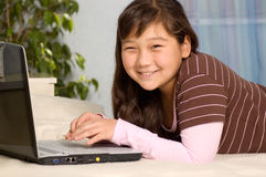 Girl with notebook. Royalty Free Stock Photos