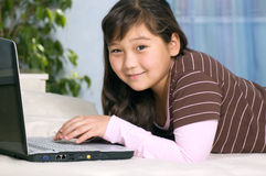 Girl with notebook. Stock Photos