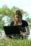 Girl With Notebook stock photography