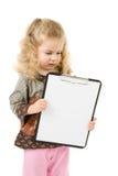 Girl with notepad Stock Photos