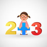 Girl with the numbers Stock Photography