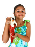 Girl with an object that brings good luck in Naples Royalty Free Stock Photography