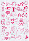 Girl objects Royalty Free Stock Photo