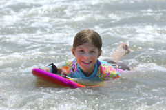Girl in Ocean Stock Photography