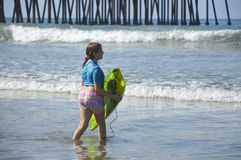 Girl and ocean. Stock Photo