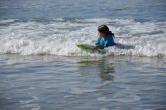 Girl and ocean. Stock Photos